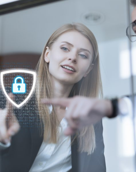 Cyber security and Network protection concept